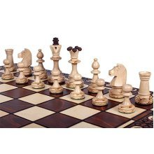 Chess Set: The Zaria - Elegant Hand Crafted Wood Chess Pieces, Chess Board & Storage