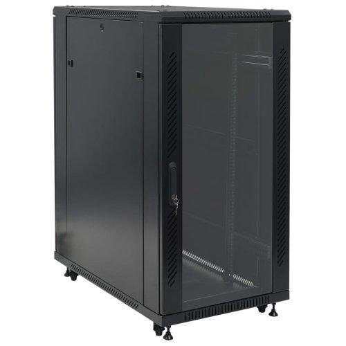 """vidaXL 24U Network Cabinet 19"""" IP20 600x1000x1230mm Data Storage Unit Rack"""