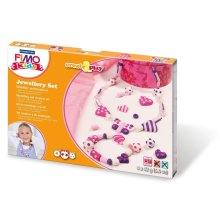 Fimo Kids Create and Play Jewellery Modelling Set, Hearts