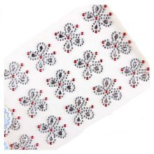 Set of 2 Crystal Silver Butterfly Beads Stickers 3D DIY Stickers for Kids