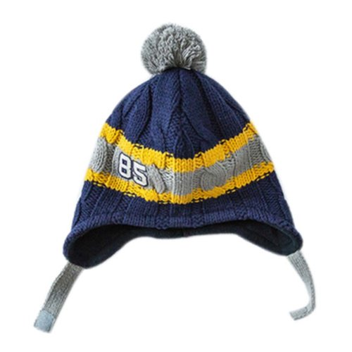 Warm Hat Knitted Hat Plus Velvet Ear Protection Hat Hit Color Fried Dough Twist