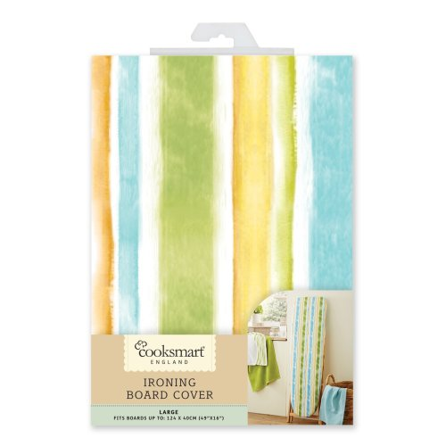 Cooksmart Large 124 x 40cm Ironing Board Cover, Stripe