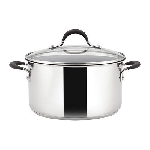 Circulon Momentum Covered Stockpot, Stainless Steel, 5.7 Litre, 24 cm