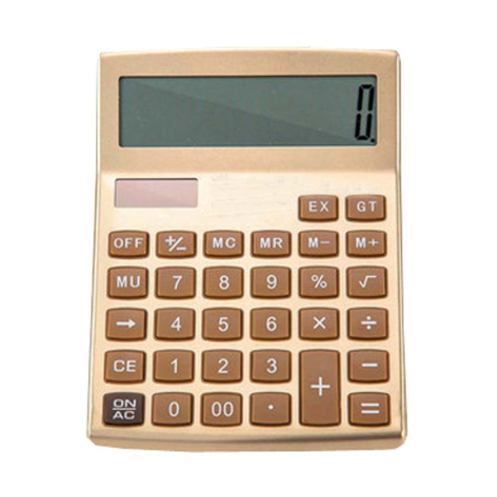 fashionable solar calculator cute portable calculator gold on onbuy