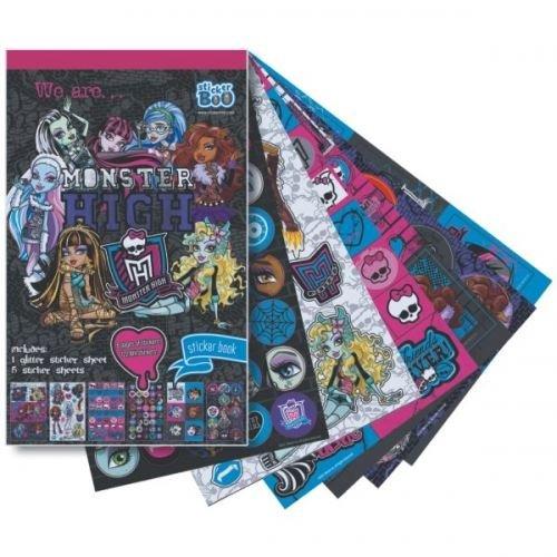 MONSTER HIGH Sticker Book 6 Sheets 122 Stickers
