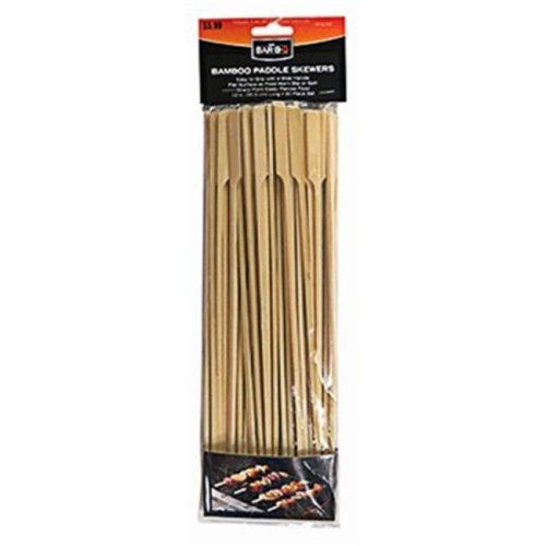 Mr. Bar-B-Q Products LLC. 246407 12 in. Flat Bamboo Skewer with Handle - 50 Count