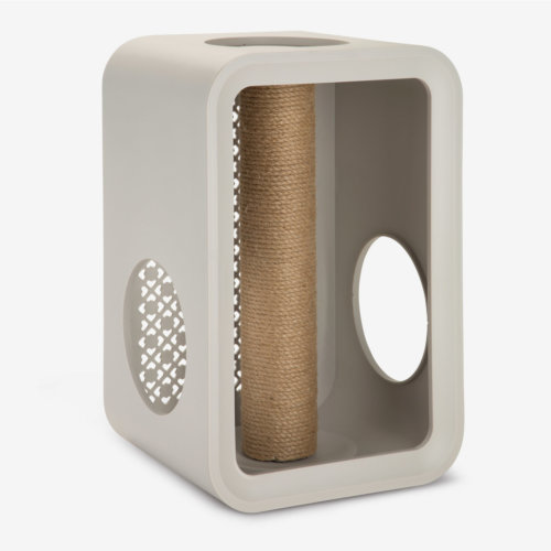 Beeztees Cat Cube Scratch Dune Grey 49cm
