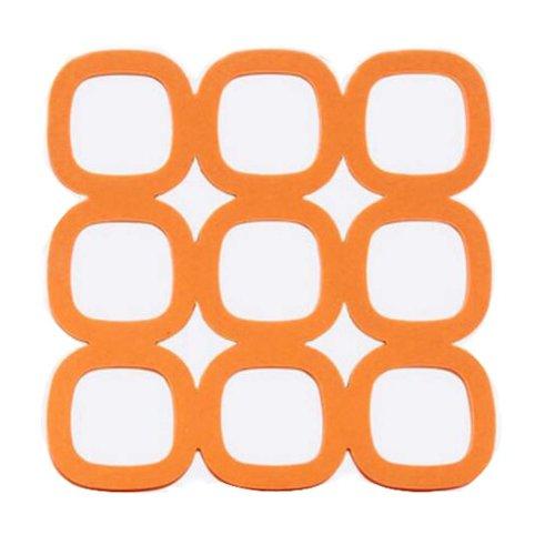 Colorful Creative Jiugongge Pot Holders Nonslip Coasters Bowl Mats Orange