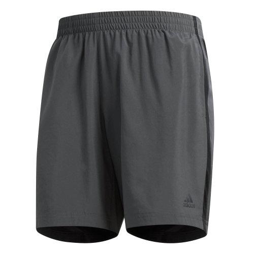 "adidas Own The Run 7"" Mens Running Fitness Training Gym Short Grey"