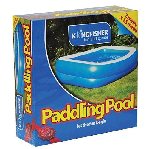 Kingfisher Paddling Pool - Blue Garden Summer H51 X W201 X D150 Cm
