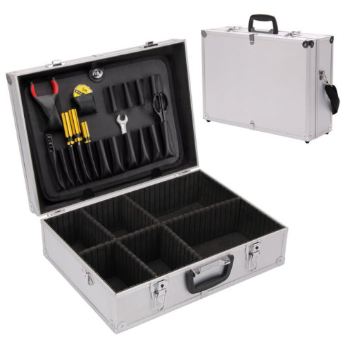 Electricians Aluminium Flight Case Toolbox Tool Organiser Lockable Storage Box