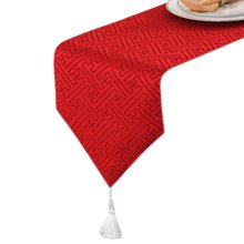12*79 Inch, Modern Stylish Table Runner Tea Table Cloth Luxury Bed Runner Red