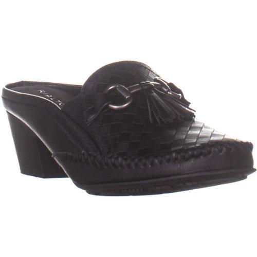 Rialto Santana Backless Heeled Loafers, Black, 9 UK