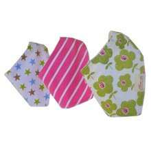 Lovely Feeding Bandana Bibs for Babies and Toddlers Set of 3(flower and star)