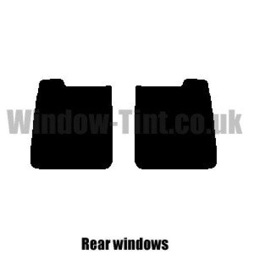 Pre cut window tint - Vauxhall Combo Van - 2001 to 2011 (C) - Rear windows