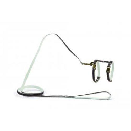 Designed By Lotte Nylon Cat Harness Virante Brown 10mm X27-45cm