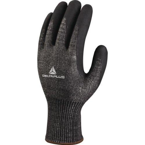 Delta Plus VECUT53 High Performance Nitrile Anti-Cut Safety Gloves Black (Various Sizes)