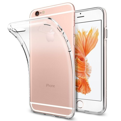 iPhone 6 6S Case, Spigen Premium Soft Liquid Crystal Clear Cover
