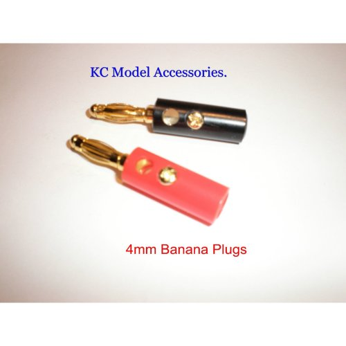 Banana 4mm Charger Plug Speaker For ESC Connectors Gold Plated 1 Pair Screw Type