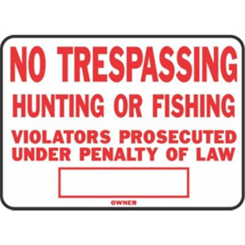 Hy-Ko Products SS-5 Sign Red No Trespass Aluminum Pack Of 12