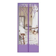 Naughty Monkey Kids Room Door Anti-Mosquito Curtain Purple