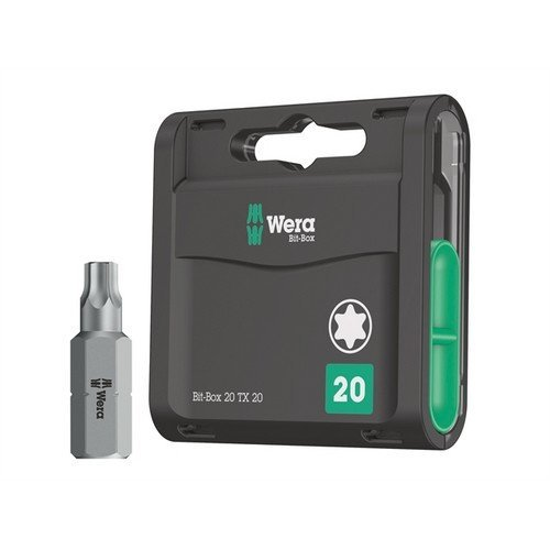 Wera WER057770 Bit-Box 20 H Extra Hard Bits TX20 x 25mm 20 Piece