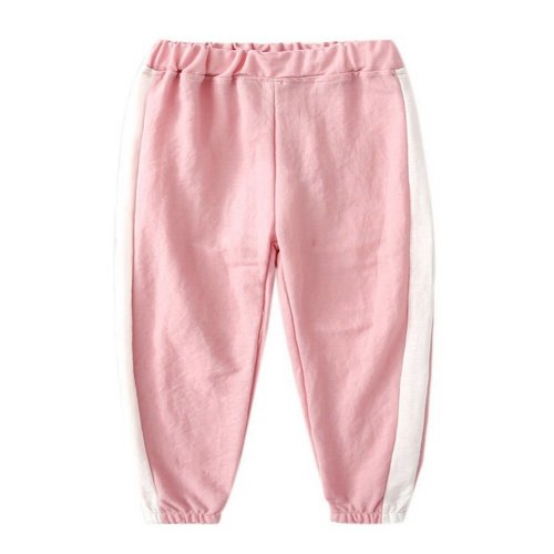 Comfortable Soft Children's Trousers, Light Pink And White