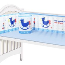 Baby 3D Breathable Mesh Crib Liner Bumpers,D