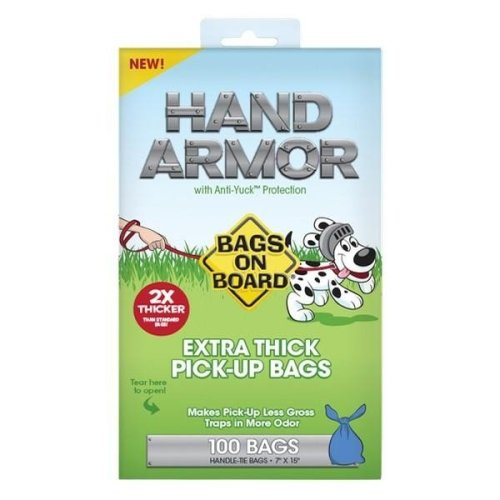 Bags On Board Hand Armor Extra Thick Dog Waste Bags