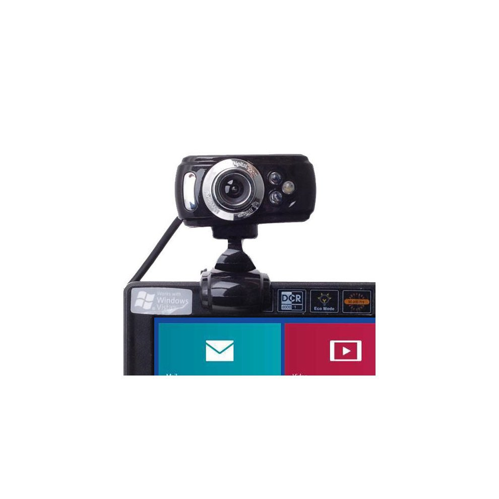 USB 50 Megapixel HD Webcam Web Cam Camera & Microphone Mic