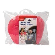 Clippasafe Secure-belt Travel Pillow for Cars - in Pink (3-8 Yrs)