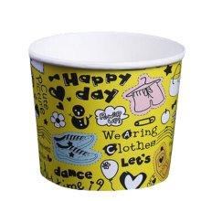 Frozen Dessert Supplies Ice Cream Cups Disposable  Fun Colors  Paper Cups 200 Count,18 oz,