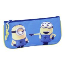 Minions 811642028 Character Pencil Case - Flat Licensed School Gift Kids -  minions flat pencil case licensed school gift kids official new