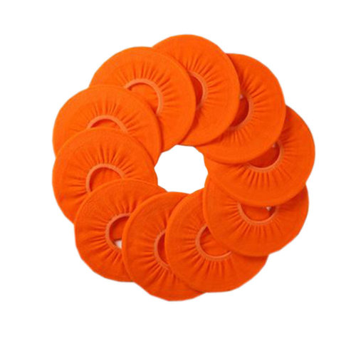 10 Pcs Four Seasons  Washable Potty Toilet Cover O-Type Toilet Seat Cover, Orange and Red
