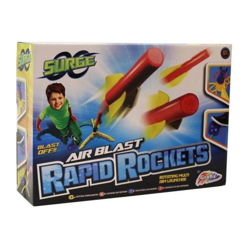 Surge Air Blast Rapid Rocket with Rotating Multi Aim Launcher and Air Blast Pad