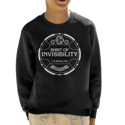Shirt Of Invisibility Dungeons And Dragons Kid's Sweatshirt