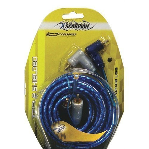 Xscorpion 6tr 6 Right Angle Tiple Shielded Rca Cables W Turn On Wire by Audiopipe