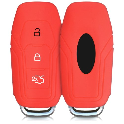 Silicone Case Compatible with Nissan 3 Button Car Key kwmobile Car Key Cover Compatible with Nissan Red