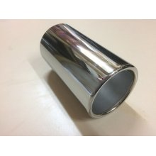 CHROME EXHAUST TAIL PIPE TIP UNIVERSAL 50MM TO 77MM