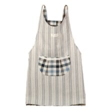 Japanese Style Thick Cotton & linen Cloth with Pocket Unisex Cooking stripe Aprons?blue