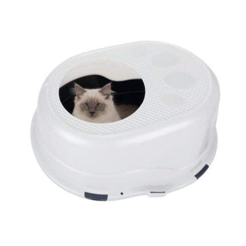 Top Entry Cat Litter Box with High Sides Hygienic Removable Lid