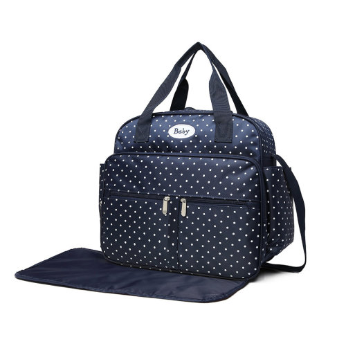 17d0c6e818dca Kono Polka Dot Baby Changing Bag Diaper Nappy Bags with Changing Mat Navy  on OnBuy