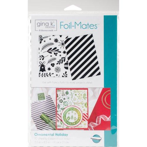 "Gina K Designs Foil-Mates Background 5.5""X8.5"" 10/Pkg-Ornamental Holiday"