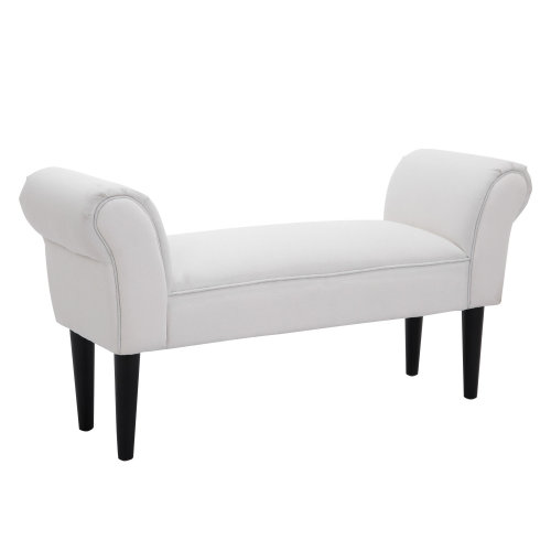 HOMCOM 102Lx31Wx51H cm Bed End Chaise Lounge-White