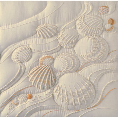 """Janlynn Candlewicking Embroidery Kit 14""""X14""""-Ocean's Edge-Stitched In Thread"""