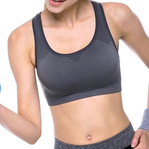 Sports Bra Running Fitness Vest Yoga Bra Women's Activewear-Deep Gray