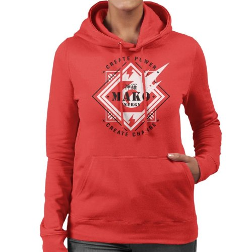 Mako Energy Create Power Change Final Fantasy VII Women's Hooded Sweatshirt
