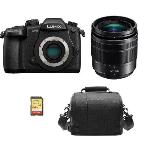 PANASONIC DMC-GH5 Black KIT 12-60mm F3.5-5.6 Black+64GB SD card+Bag