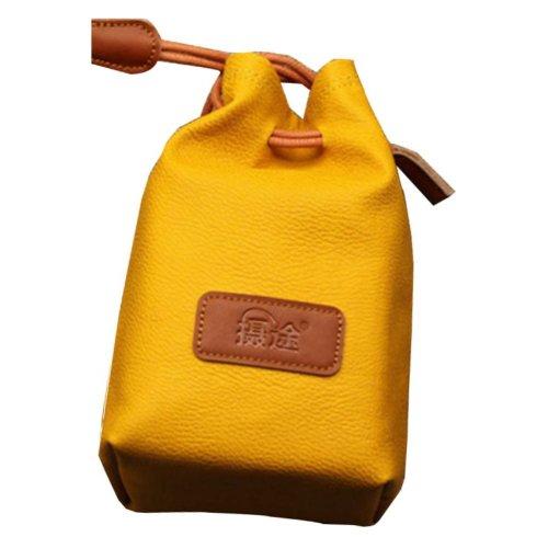 Yellow Camera Pouch Camera Lens Bag Lens Bag