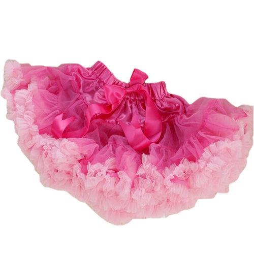 Fantasy Two-Tone [Rosy&Pink] Kids 6-7Yrs Dance Skirt Yarn Tutu Skirt One Size